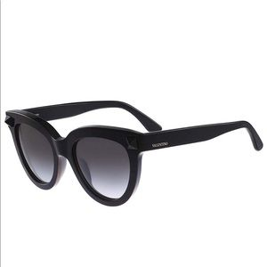 Valentino Black Rockstud Cat Eye Sunglasses